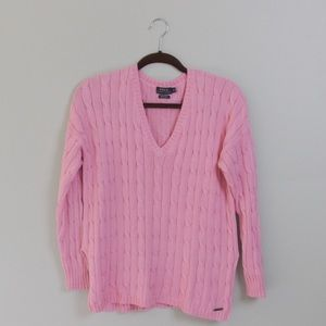 Polo Pink Oversized Split Side Pima Cotton Cable
